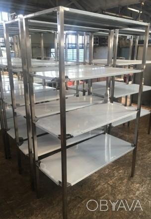 Распродажа стеллажей новых из нержавеющей стали для кухни