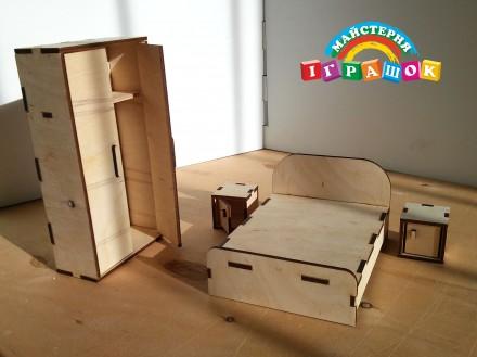 Разборной кукольный домик с мебелью из натурального материала – фанеры.  Уникал. Одесса, Одесская область. фото 7