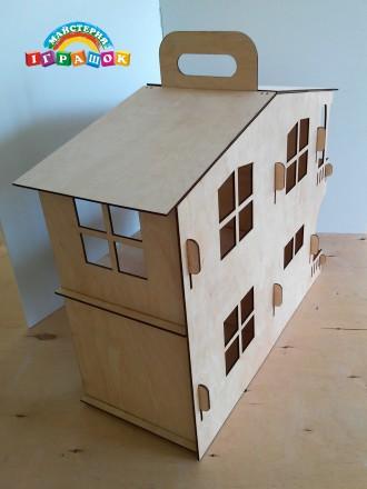 Разборной кукольный домик с мебелью из натурального материала – фанеры.  Уникал. Одесса, Одесская область. фото 4
