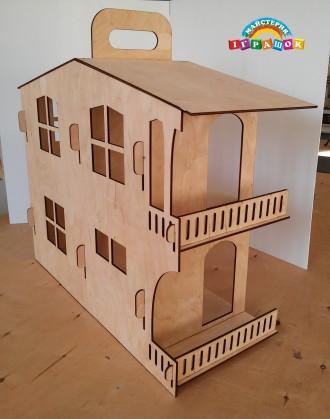 Разборной кукольный домик с мебелью из натурального материала – фанеры.  Уникал. Одесса, Одесская область. фото 3