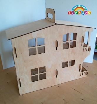 Разборной кукольный домик с мебелью из натурального материала – фанеры.  Уникал. Одесса, Одесская область. фото 5