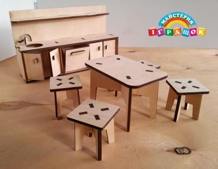 Разборной кукольный домик с мебелью из натурального материала – фанеры.  Уникал. Одесса, Одесская область. фото 6