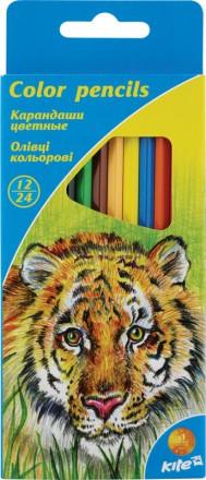 Олівці 12 кольорів двосторонні Kite.Неймовірно м