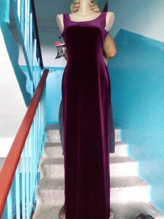 Продам элегантное вечернее платье. Стрейч-велюр.. Цвет гнилая вишня.По бокам раз. Одесса, Одесская область. фото 2