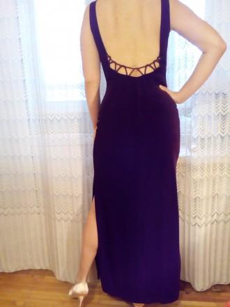 Продам элегантное вечернее платье. Стрейч-велюр.. Цвет гнилая вишня.По бокам раз. Одесса, Одесская область. фото 6