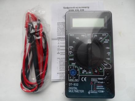 Мультиметр тестер DT-832. Сумы. фото 1