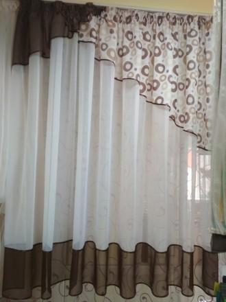 Тюль  для кухни, детской, коридора.... Бахмач. фото 1