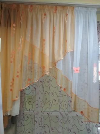 Тюль для кухни, детской комнаты, коридора. Бахмач. фото 1