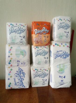 РАСПРОДАЖА!!! Подгузники Baby baby soft, закрытие склада!!!. Харьков. фото 1