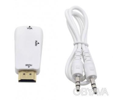 Переходник HDMI - VGA, пригодится в тех случаях, когда необходимо подключить каб. Павлоград, Днепропетровская область. фото 1