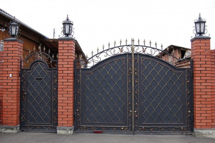 Ворота кованые. Кривой Рог. фото 1