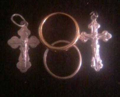 Колечка и крестики освященные в наборе. Тараща. фото 1