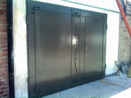 Предприятие изготовит гаражные ворота с металла 2мм,3мм,4мм под заказ любой слож. Кривой Рог, Днепропетровская область. фото 4