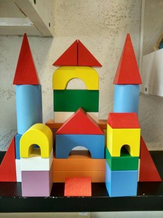 Конструктор деревянный, строительный набор 32 детали. Киев. фото 1