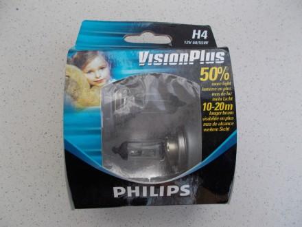 Новая галогенная лампа Philips Vision Plus Н4 12V 60/55W + 50%.. Северодонецк. фото 1