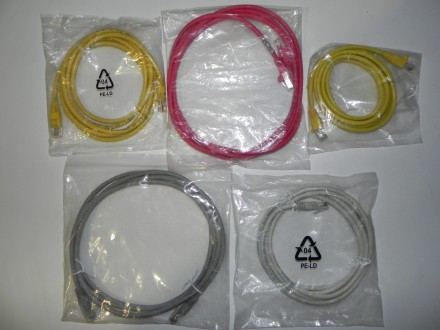 Патчкорди 2м вир.Molex, Ethernet Cat5 для 10/100/1000Мбіт/с, BNC CP-50ФBxxxx/ПВ. Ивано-Франковск. фото 1