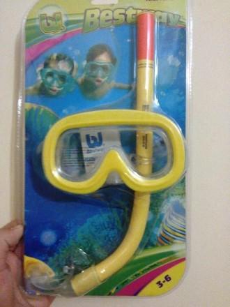 Набор для плаванья: маска, трубка. Киев. фото 1
