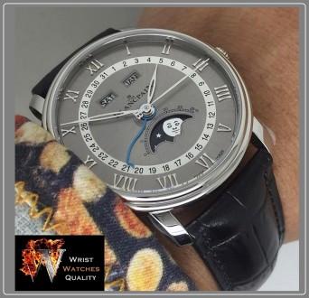 BLANCPAIN - Villeret Quantième Complet Moonphase & Calendar Automatic Grey Dial . Киев, Киевская область. фото 12