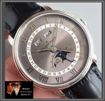 BLANCPAIN - Villeret Quantième Complet Moonphase & Calendar Automatic Grey Dial . Киев, Киевская область. фото 8