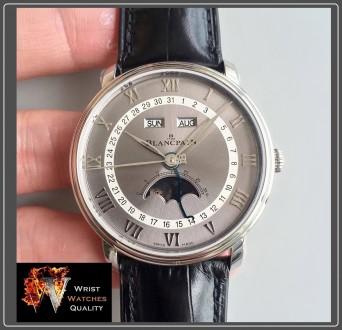 BLANCPAIN - Villeret Quantième Complet Moonphase & Calendar Automatic Grey Dial . Киев, Киевская область. фото 3