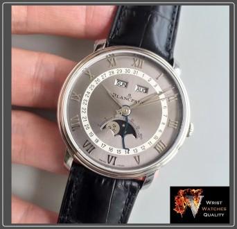 BLANCPAIN - Villeret Quantième Complet Moonphase & Calendar Automatic Grey Dial . Киев, Киевская область. фото 4