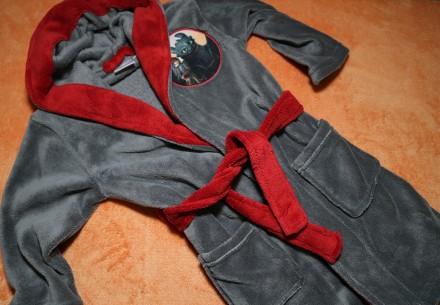Теплый флисовый халат Lupilu на мальчика 3-4 года 98-104,. Днепр. фото 1