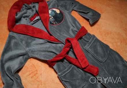 Продам теплый флисовый халат на мальчика.  Халат новый.  р. 98-104 см. Замеры:. Днепр, Днепропетровская область. фото 1