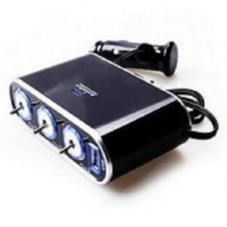 В наличии.   Тройная розетка with12 V/24 V   USB зарядное устройство подходящ. Нежин, Черниговская область. фото 5