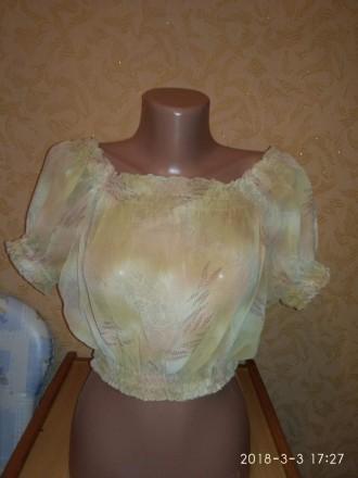 Блуза шифоновая летняя. Николаев. фото 1