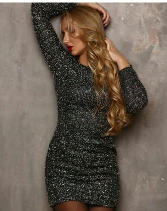 Красивое платье. Ткань вязанный трикотаж с люрексом. Размер указан L,маломерит. Полтава, Полтавская область. фото 2