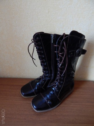 Демисезонные кожаные сапоги Берегиня для девочки 33 размер. Чернигов. фото 1