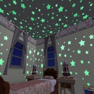 Светящиеся люминесцентные звёздочки в детскую комнату.. Нежин. фото 1