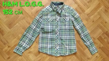 Рубашка H&M L.O.G.G. одежда на мальчика. Чернигов. фото 1