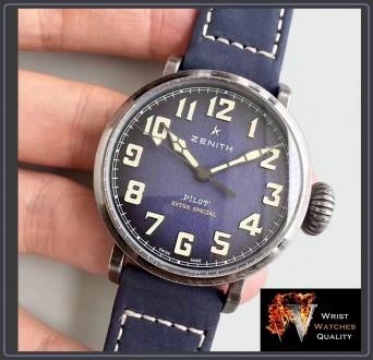 ZENITH – PILOT Type 20 EXTRA Special 40mm Steel Automatic Blue Dial. Ref: 11.19. Киев, Киевская область. фото 4