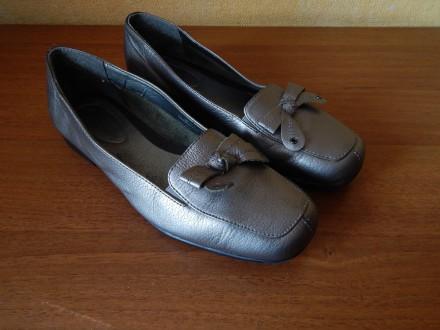 Кожаные туфли , размер 35,5, мокасины, балетки. Чернигов. фото 1