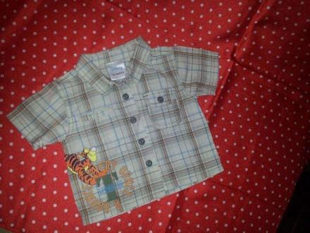 Рубашка с коротким рукавом Disney 0-3 месяцев. Северодонецк. фото 1