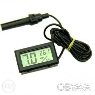 Термометр-гігрометр цифровий з виносним датчиком. Вологомір гигрометр