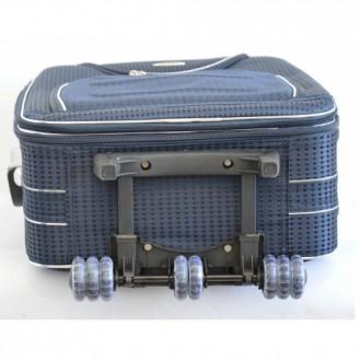 Текстильный чемодан сумка дорожный Bonro набор 3 штуки Цвет: темно-синий клетка. Київ, Киевская область. фото 6