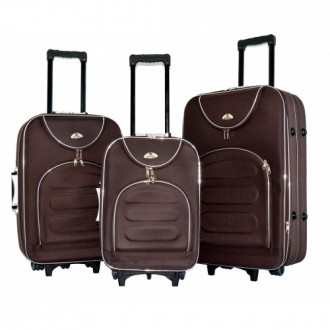 Чемодан сумка текстильный Bonro набор 3 штуки Цвет: coffee. Киев. фото 1