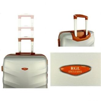 Дорожный чемодан сумка Exclusive набор 3 штуки графит  Комплект Exclusive 6881. Киев, Киевская область. фото 5