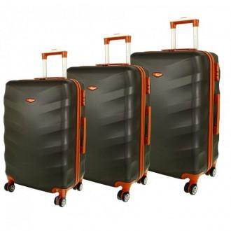 Дорожный чемодан сумка Exclusive набор 3 штуки графит. Киев. фото 1
