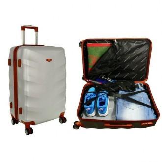 Дорожный чемодан сумка Exclusive набор 3 штуки графит  Комплект Exclusive 6881. Киев, Киевская область. фото 4