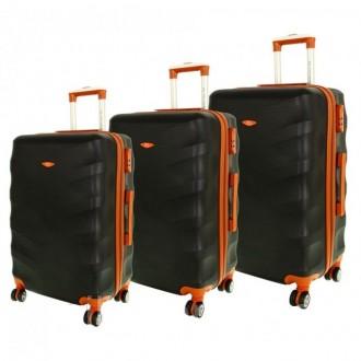 Дорожный чемодан сумка Exclusive набор 3 штуки черный. Киев. фото 1