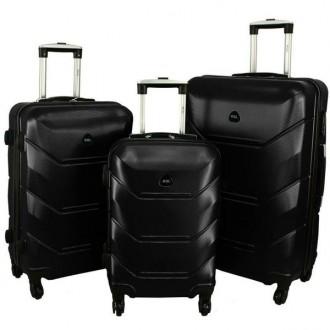 Дорожный Чемодан сумка Carbon 720 набор 3 штуки черный. Киев. фото 1