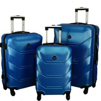 Дорожный Чемодан сумка Carbon 720 набор 3 штуки синий. Киев. фото 1