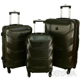 Дорожный Чемодан сумка Carbon 720 набор 3 штуки графит  Чемодан Carbon 720 наб. Киев, Киевская область. фото 1