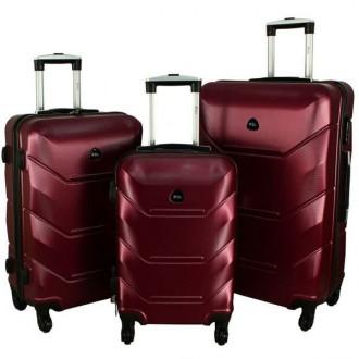 Дорожный Чемодан сумка Carbon 720 набор 3 штуки бордовый. Киев. фото 1