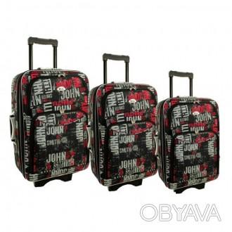Дорожный чемодан сумка 773 набор 3 штуки kolor 1  ХАРАКТЕРИСТИКА:  Корпус ос. Киев, Киевская область. фото 1