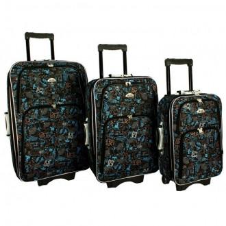 Дорожный чемодан сумка 773 набор 3 штуки mozaika. Киев. фото 1