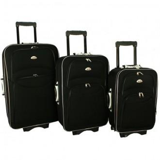 Дорожный чемодан сумка 773 набор 3 штуки черный. Киев. фото 1